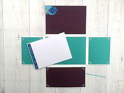 album,scrap,photos,vert émeraude,or,bleu turquoise,aubergine,orient,inde,toga,bombay