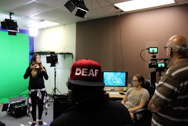 ASL Host Youth on camera