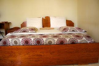 Hotel room with queen bed in Huye, Rwanda