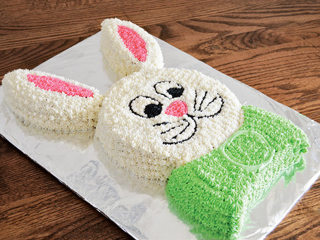 Easter Bunny Cut Up Cake