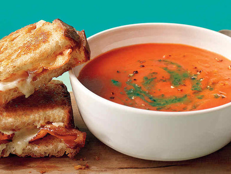 Grilled Cheese & Creamy Tomato Soup