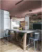 Кухонный стол остров в дизайн проекте