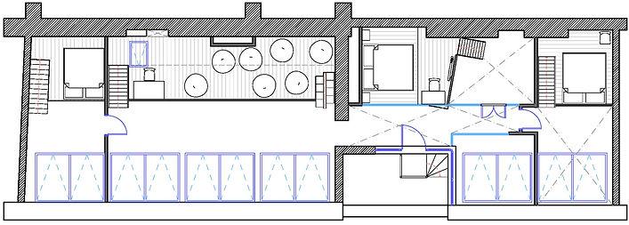 Планировочное решение второго уровня двухуровневой квартиры