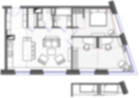 Планировочное решение квартиры в ЖК Сердце столицы