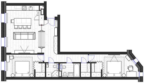 Планировочное решение квартиры в Санкт-Петебурге