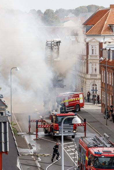 Brand i Vestergade Horsens