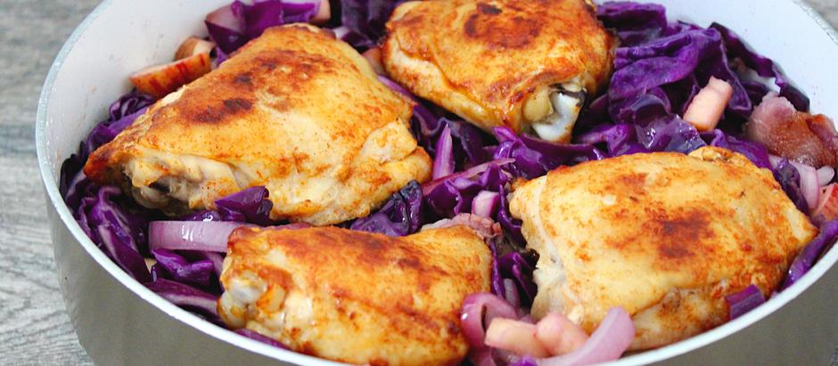 Oktoberfest Chicken with Cabbage