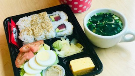 Tuna Roll Lunch box with Miso Soup