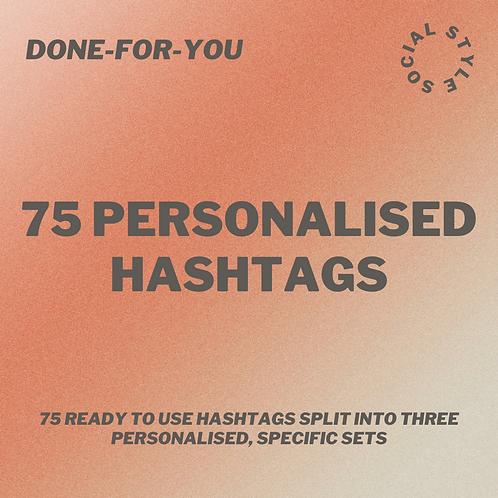 75 Personalised Hashtags