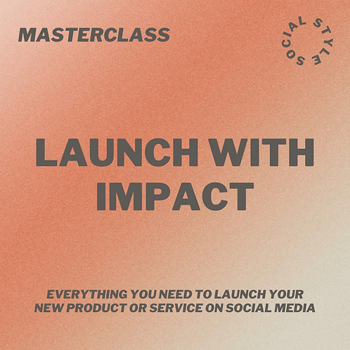 Masterclass: Launch with Impact
