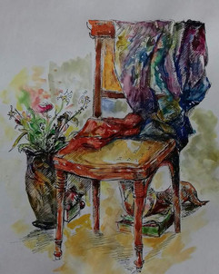 Motif (chair and drapery)