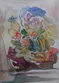Capriccio (flowers in a vase)
