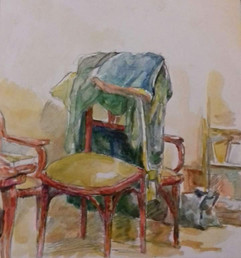 Motif (chair and cloths)