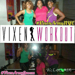 Class photo from Vixen Workout Jamaica Queens location. With Certified instructor Nikki_Thanks for c