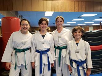 Green belt and Blue belt family