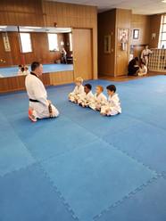 Kids class lined up