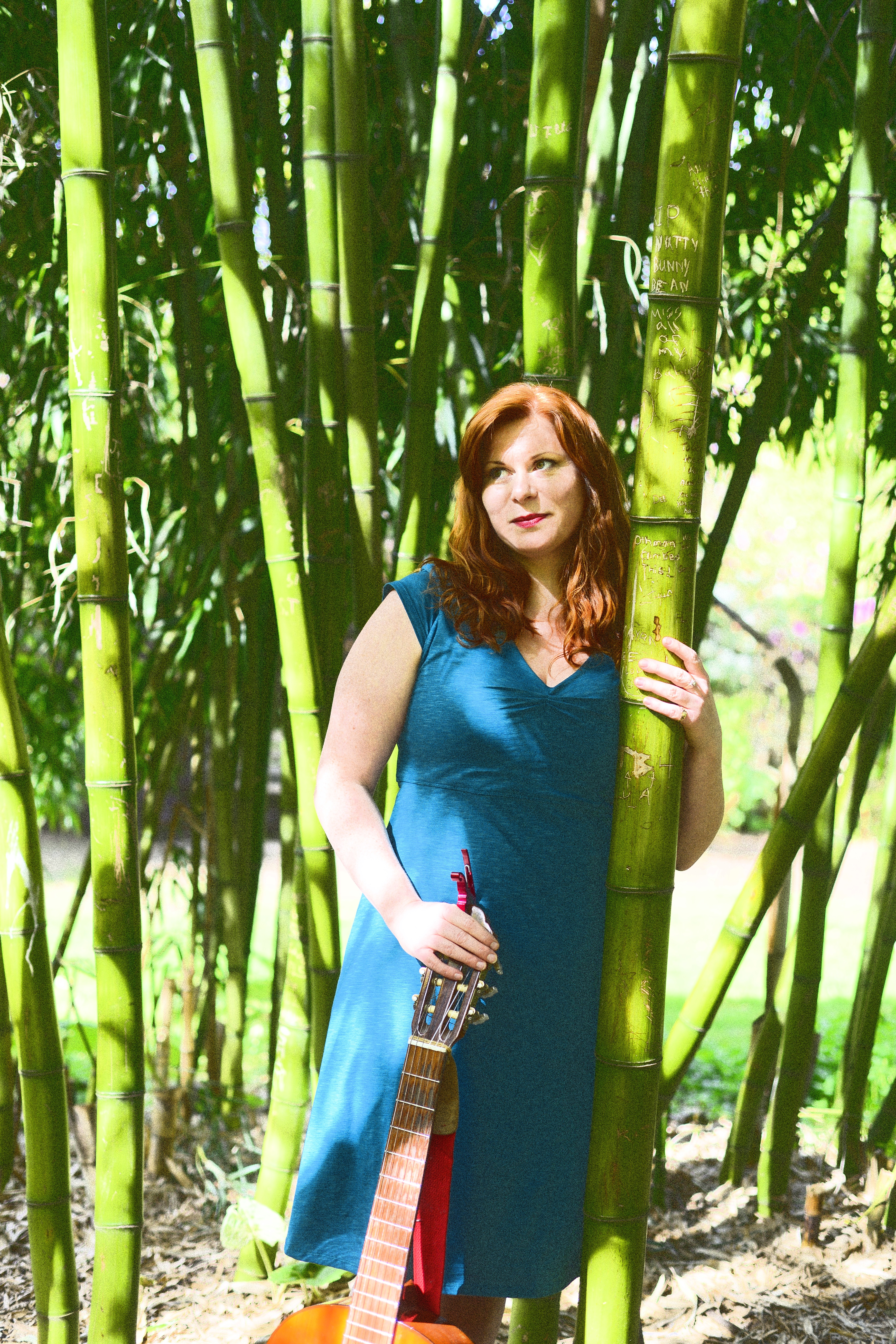 Lindsay - standing in bamboo