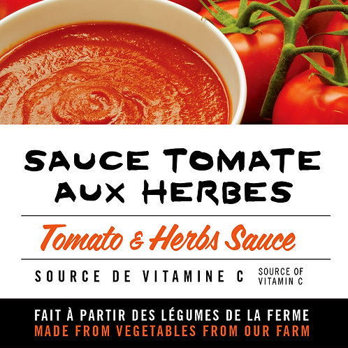 Sauce tomate aux herbes - Tomato and herbs sauce