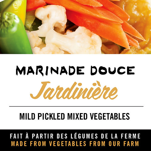 Marinade douce jardinière - Mild pickled mixed vegetables