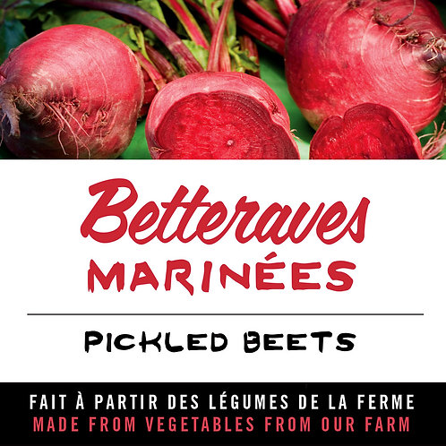 Betteraves marinées - Pickled beets