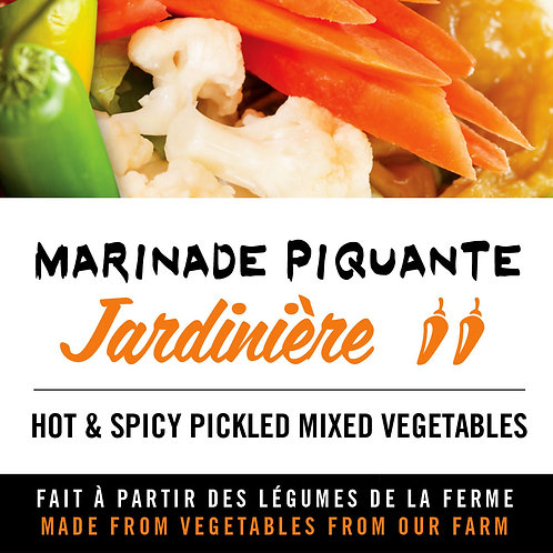 Marinade piquante jardinière - Hot and spicy pickled mixed vegetables