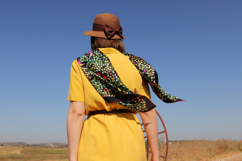 Kings of Dahomey, anath silk fashion, 100% silk, silk scarf, outdoor, made in italy, handrolled edges, black, multicolor, silk satin
