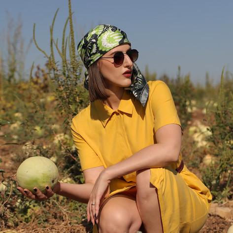 Noé verdure, anath silk fashion, silk scarf, designer, green, silk twill, 100% silk, made in italy, head scarf