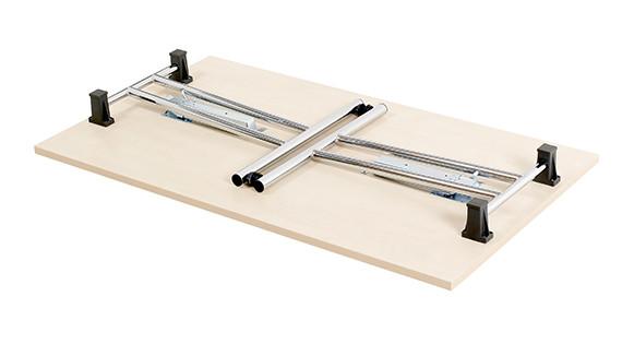 folding leg table {folded}