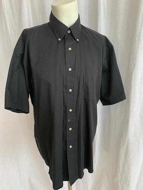 Men's Black Uniform Shirt - Forsyth - Large
