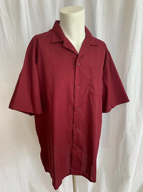 Women's Burgandy Work Shirt - Lady Edward - Medium