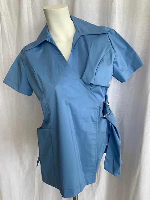 Women's Light Blue Uniform Top - Style Empress - Large