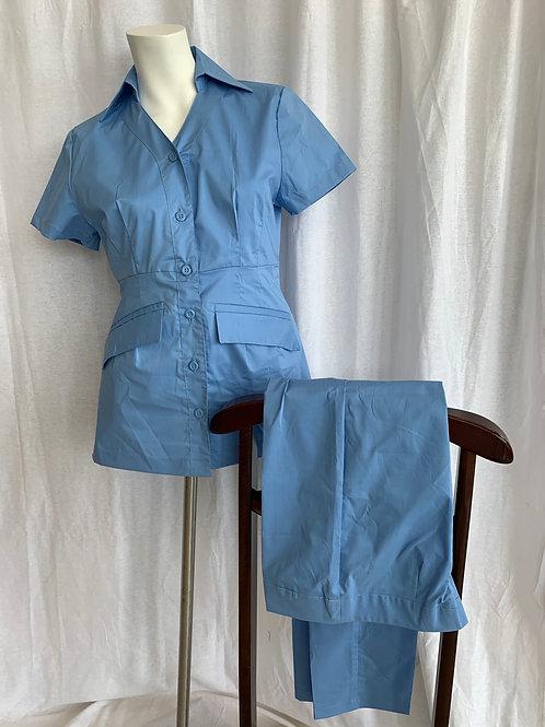 Women's Light Blue Uniform - Style Empress - Large