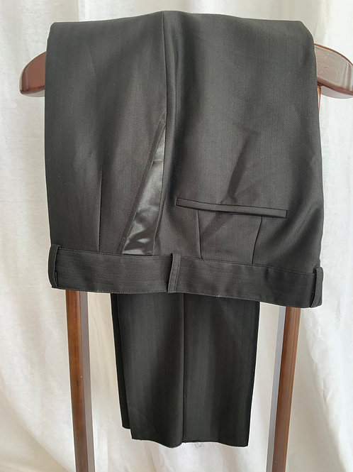Men's Black Pant Satin Pocket - Size 40