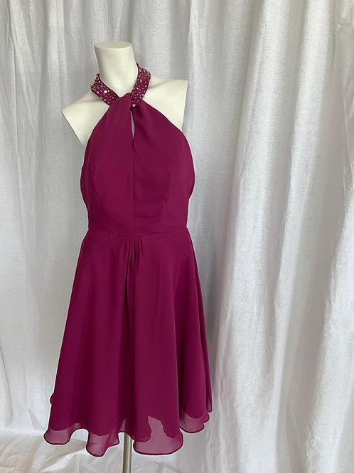 Plum Halter Dress - Size 8
