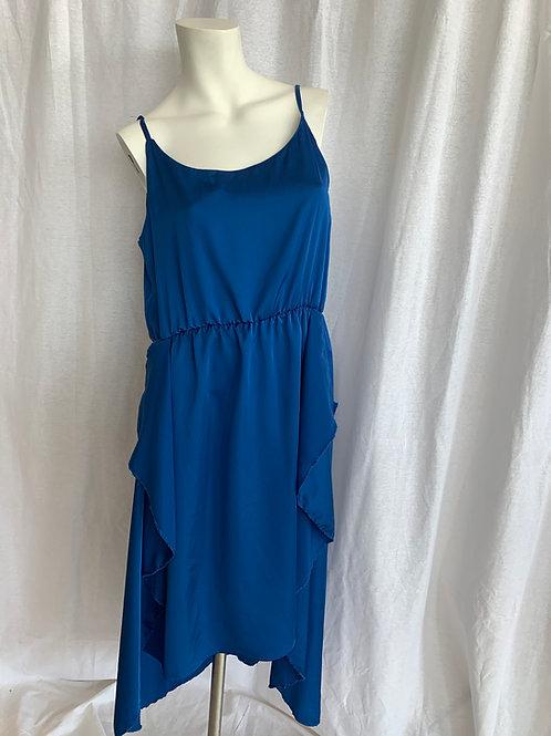 Royal Blue Spaghetti Strap Dress - Charbara Crystal - Bust 38 / Waist 38