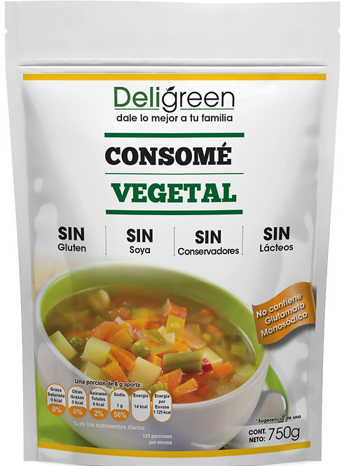 Consomé Vegetal Natural 750 grs