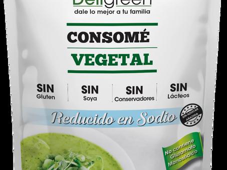NUEVO Consomé vegetal reducido en sodio, SIN AZÚCAR