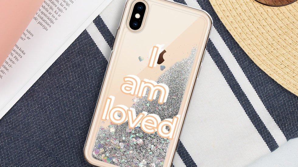 """I Am Loved"" Liquid Glitter Phone Case"