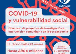 """¡Nueva Fecha! Concurso """"COVID-19 y vulnerabilidad social"""""""