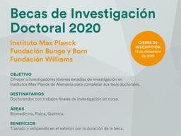 Becas de Investigación Doctoral 2020