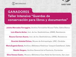 "Taller intensivo ""Guardas de conservación"": los ganadores"