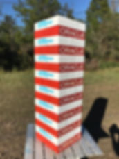 Oracle, voicebase, giant lumberstack, giant tumble towers, custom tumbling tower, giant logo blocks, logo game,Corporate Custom Logo giant outdoor block tower game, promotional game, teambuilding game, custom gift, wood or cork giant block games, best gift 2018