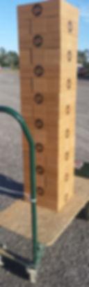 BEST DAMN giant lumberstack, giant tumble towers, custom tumbling tower, giant logo blocks, logo game,Corporate Custom Logo giant outdoor block tower game, promotional game, teambuilding game, custom christmas gift, wood or cork giant block games, best gift 2017, BEST DAMN