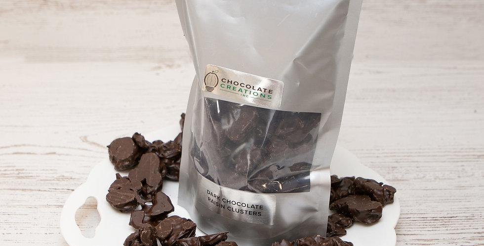 Dark chocolate raisin clusters