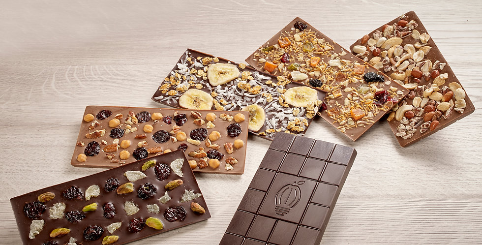 Creation Station customized chocolate bar, add up to 3 toppings
