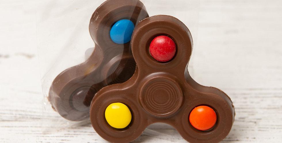 Solid milk chocolate fidget spinner