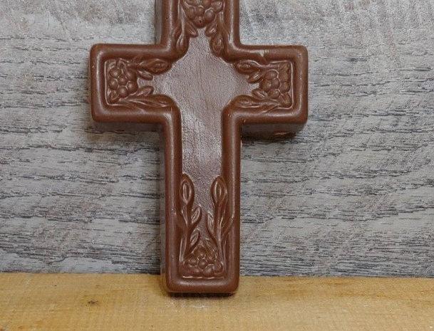 Milk chocolate Easter cross