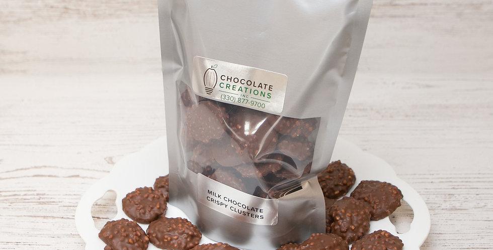 Milk chocolate crispy cluster