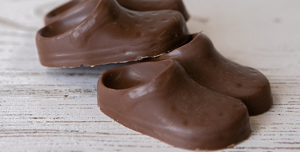 Solid milk chocolate crocs shoes