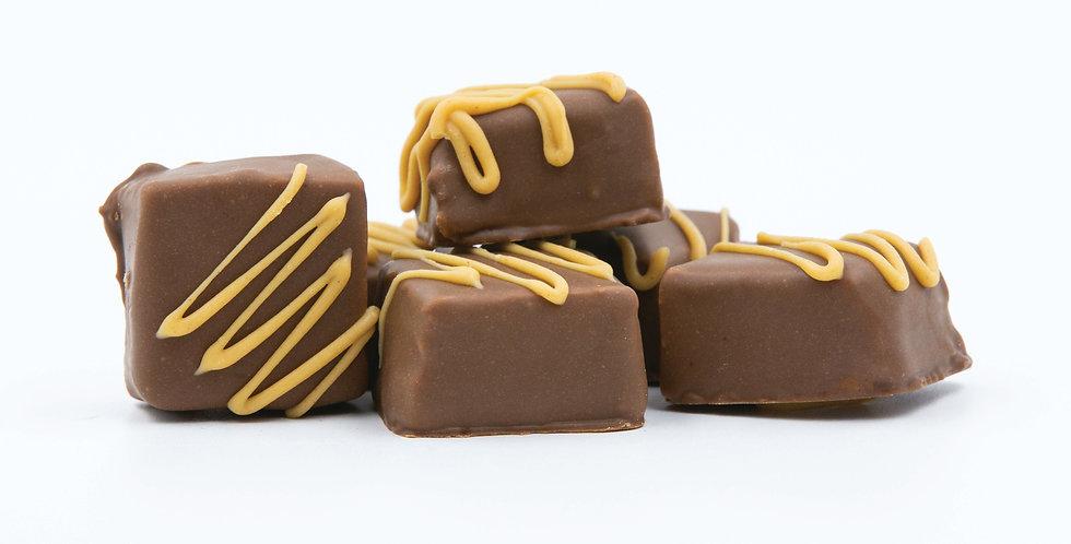 Milk chocolate peanut butter smoothie bites